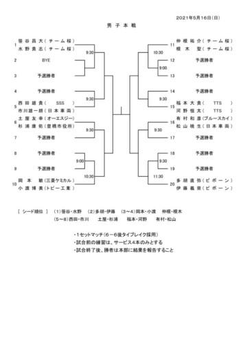 2021_協会長杯_男子・女子本戦ドローのサムネイル